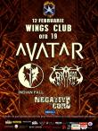 Detalii despre concertul Avatar, Indian Fall, Grimegod si Negative Core Project
