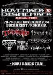 November to Dismember Metal Fest: LIQUID GRAVEYARD, TONS OF POWDER, NAILED TO OBSCURITY si multe alte trupe confirmate!